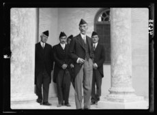 Iraq. (Mesopotamia). Celebration of Iraq becoming member of the League of Nations, Oct. 6, 1932. Baghdad. His late Majesty King Feisal. At the Royal Palace.tif