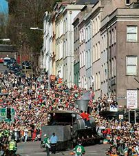 St-Patrick day 2004 in Cork City. More picture...