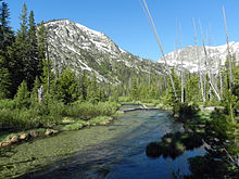 Iron Creek and the Sawtooth Mountains