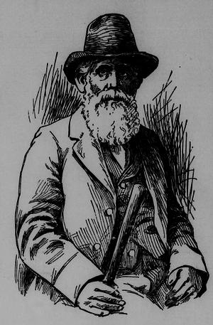 Isaac Brock (supercentenarian) - Sketch of Brock in 1898 newspaper