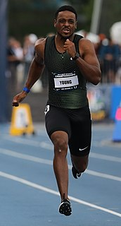 Isiah Young American sprint athlete