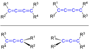 Cumulene - Cis–trans isomerism of a triene vs axial chirality of an allene