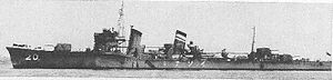 Isonami, sunk by Tautog 9 April 1943.