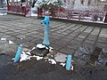 Ivókút vas kerékvetőkkel a Templom téren, 2018 Pestújhely.jpg