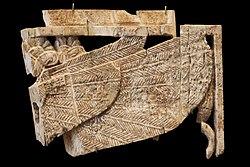Plaque fragment: winged sphinx