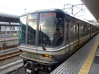 JRW 223-1000 Special Rapid Service train at Maibara Station 20140118 .jpg