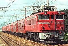 国鉄50系51形客車で組成された列車
