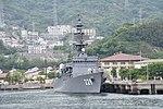 JS Abukuma(DE-229) right front view at JMSDF Kure Naval Base May 6, 2018 01.jpg