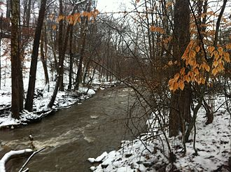 Jackson Creek (Monroe County, Indiana) - Jackson Creek, south of Rock Creek Drive in Bloomington, Indiana USA