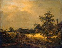 Jacob van Ruisdael - Peasant cottages in the dunes.jpg