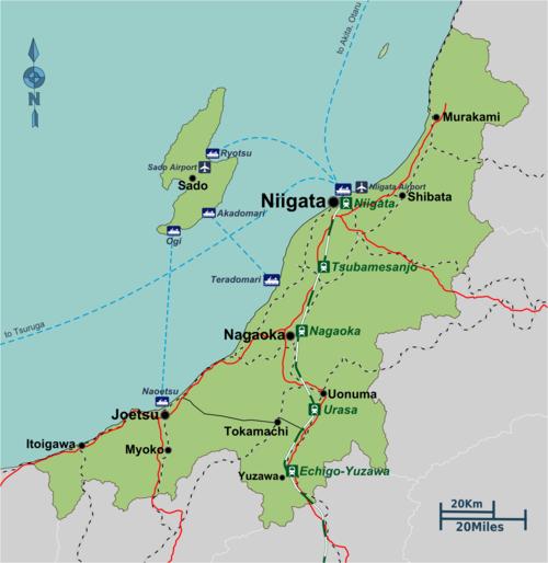 Niigata Prefecture DavisHuntercom - Joetsu map