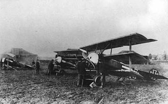Fokker Dr.I - ''Jasta'' 12 flightline at Toulis, France