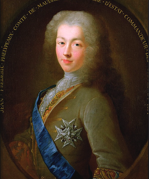 Jean-Frédéric Phélypeaux, Count of Maurepas - Portrait of a young Maurepas