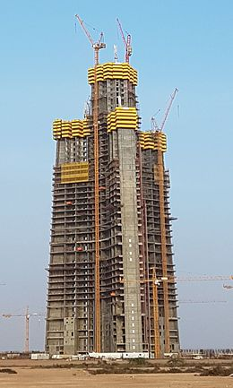 Jeddah Tower Building Progress as of 02-Dec-2016 001 (cropped).jpg