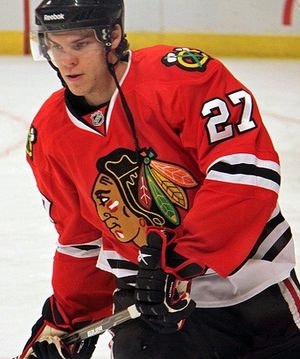 Jeremy Morin - Morin as a Blackhawk in December 2010