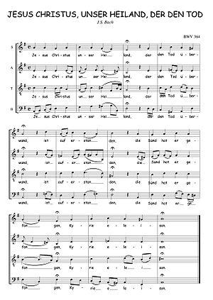 List of chorale harmonisations by Johann Sebastian Bach - Wikipedia
