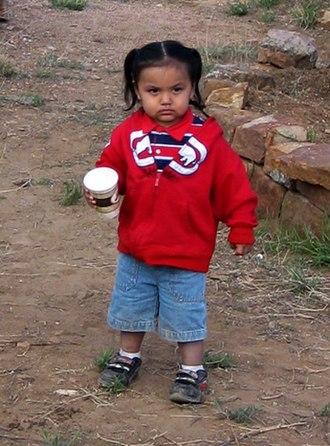 Apache - Young Jicarilla Apache boy, New Mexico, 2009