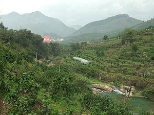 Pinghe County - Jinxi Creek Valley west of Xiaoxi Town