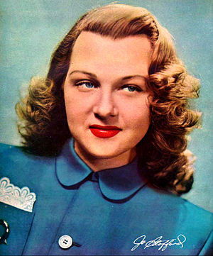 Jo Stafford - Jo Stafford pictured on the back cover of Radio Album magazine, summer 1948