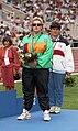 Jodi Willis on Barcelona 1992 Paralympics medal podium.jpg