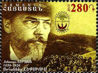 Johannes Lepsius - Johannes Lepsius on a 2013 Armenian stamp