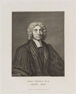 John Strype English historian and biographer