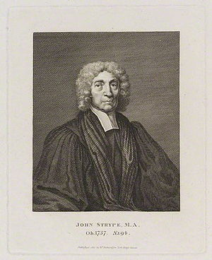 John Strype - John Strype, engraving by William Richardson.