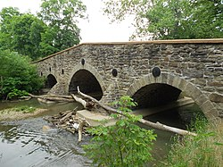 John's Burnt Mill Bridge, a historic site in the township