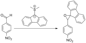 The first example of the Johnson–Corey–Chaykovsky reaction