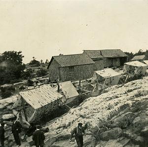 Jones Island, Milwaukee - Fishing Gear on Jones Island, 1912.