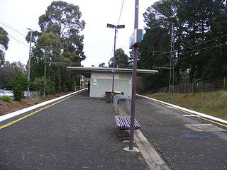 Jordanville railway station railway station in Mount Waverley, Melbourne, Victoria, Australia