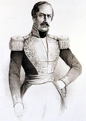 José María Obando - Drawing by José María Espinosa Prieto, c 1843.