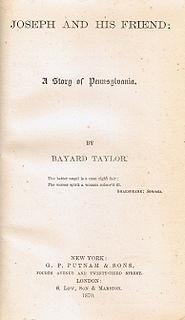 <i>Joseph and His Friend: A Story of Pennsylvania</i>
