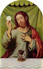Peinture représentant Jésus et le Saint Calice (Juan de Juanes, 1570)