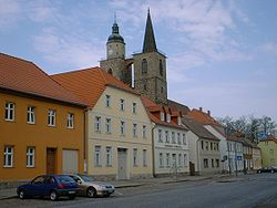 Main street and Saint Nicholas' Church