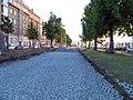Jugoslávských partyzánů, rekonstrukce trati, štěrk.jpg