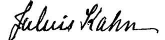 Julius Kahn (inventor) - Image: Julius Kahn signature