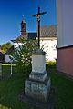 Kříž před kostelem, Štěpánov nad Svratkou, okres Žďár nad Sázavou.jpg