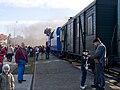 Křivoklát expres, vůz a lokomotiva.jpg