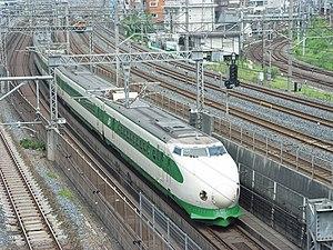 Asahi (train) - A 200 series on an Asahi service in Tokyo in August 2002