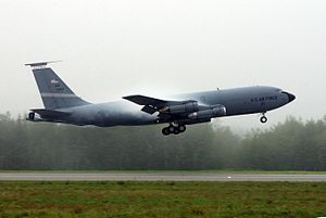 126th Air Refueling Wing - A 126th ARW KC-135E taking off from Eielson AFB Alaska, in 2004.