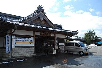 Kumihama Station - Station building, March 2011