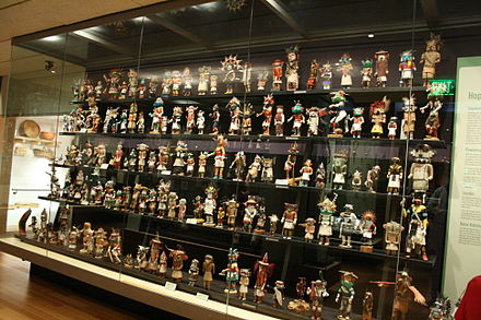 Collection of kachina dolls Kachina Dolls Heard Museum.jpg