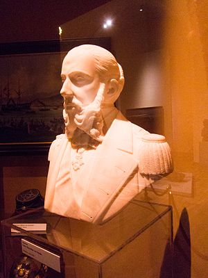 Maximilian I of Mexico - Bust by an anonymous sculptor on display at the Heeresgeschichtliches Museum - Vienna, Austria, 2013