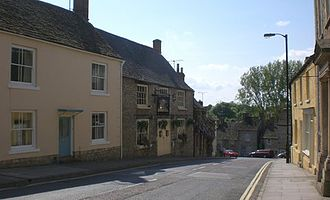 Malmesbury - Typical scene in central Malmesbury, showing older modernised property, but highly preserved from its original construction
