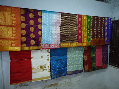Kanchipuram hand loom silk sarees Kanchipuram silk sareer.JPG