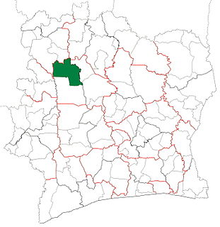 Kani Department Department in Woroba, Ivory Coast