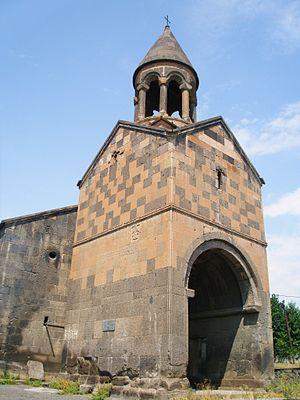 Surp Astvatsatsin Church of Karbi - The belfry of S. Astvatsatsin at Karbi, September 2009.