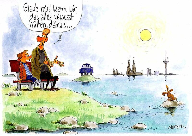File:Karikatur von Gerhard Mester zum Thema Nicht Gewusst O11189.jpg
