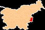 Loko de la Municipo de Brezice en Slovenio
